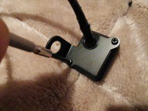 セロー250のグリップウォーマーのスイッチ装着画像